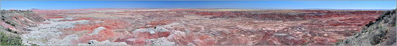 Petrified Forest National Park - Painted Desert en vue panoramique (Ouest USA) (CANON D + EF 50mm F1,4)