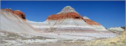 Petrified Forest National Park - The Tepees en vue panoramique (Ouest USA) (CANON 5D + EF 100 macro F2,8 USM)